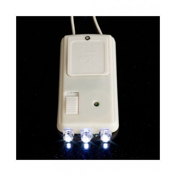 Battery powered light with 3 super efficient LED