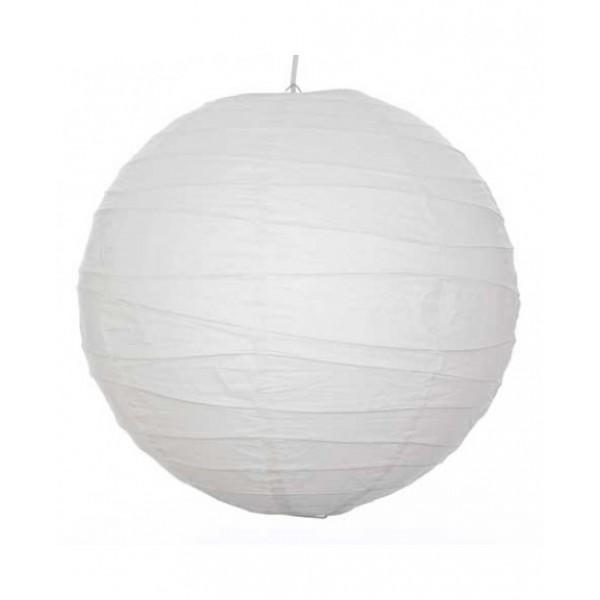"""36"""" Paper Lantern White with Bamboo Irregular Ribbing"""