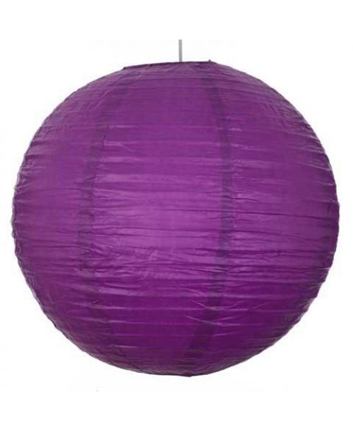 """16"""" Paper Lantern Purple Regular Wire"""