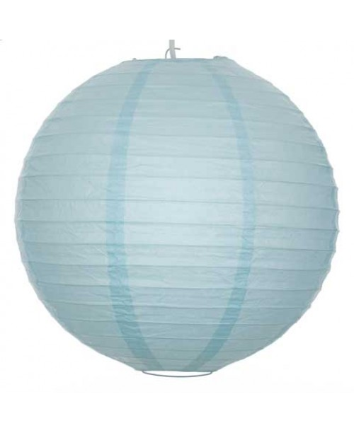 "12"" Paper Lantern Arctic Blue Regular Wire"