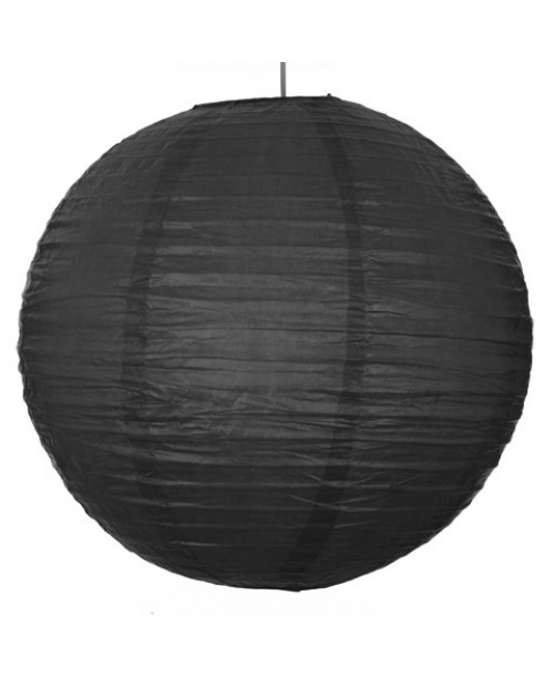 "16"" Paper Lantern Black Regular Wire"