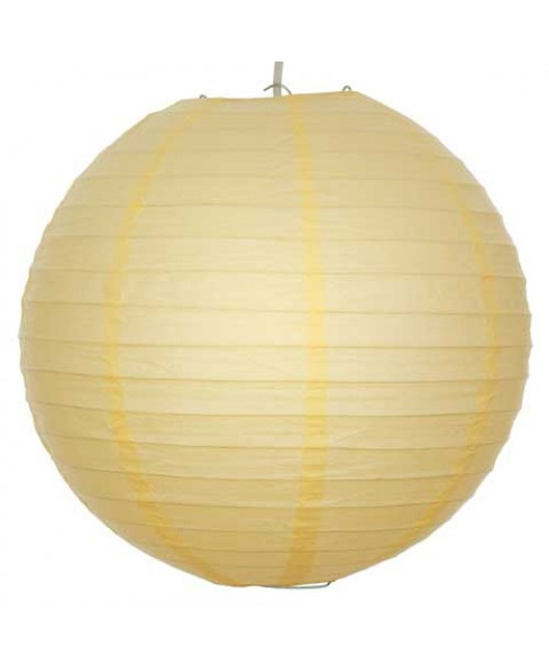 """16"""" Paper Lantern Buttermilk Regular Wire"""