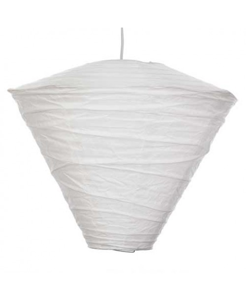 "15"" Conical Paper Lantern White"