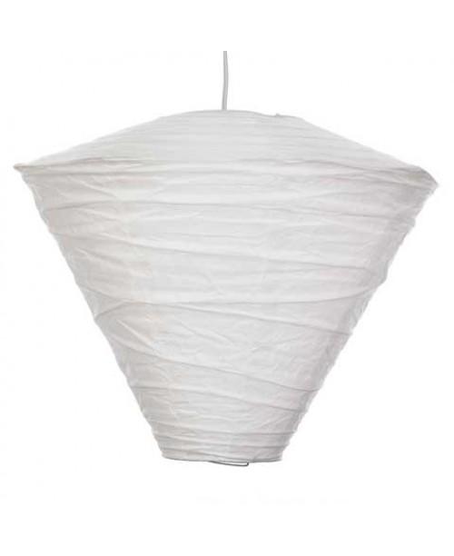 "15"" Conical Paper Lantern White"