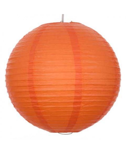 "8"" Paper Lantern Orange Regular Wire"