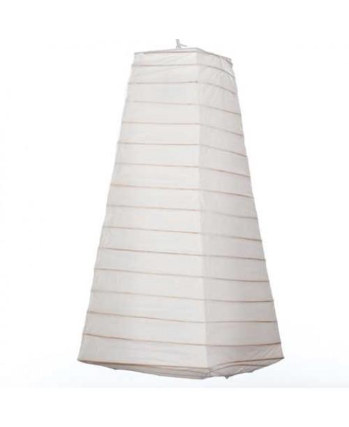 "8"" x 14"" Paper Lantern Pyramid White"