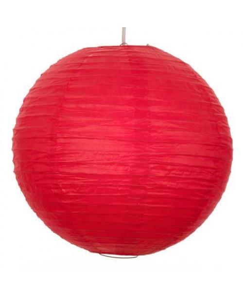 """8"""" Paper Lantern Red Regular Wire"""