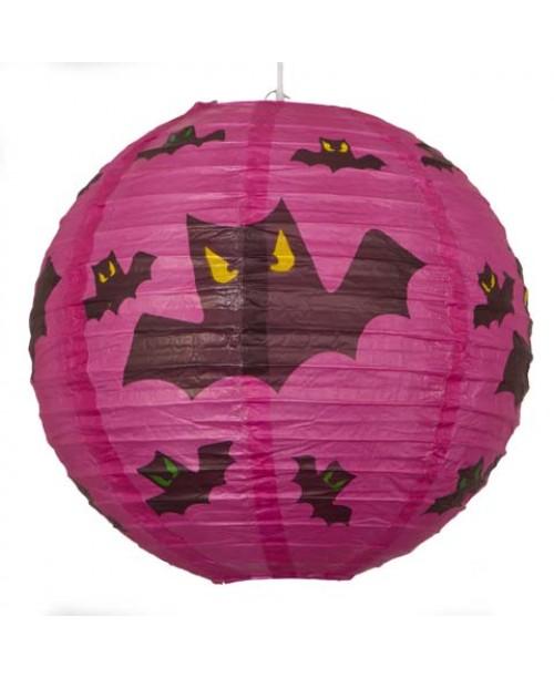 """12"""" Paper Lantern Halloween Bats"""