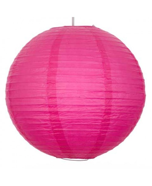 "16"" Paper Lantern Fuscia Regular Wire"