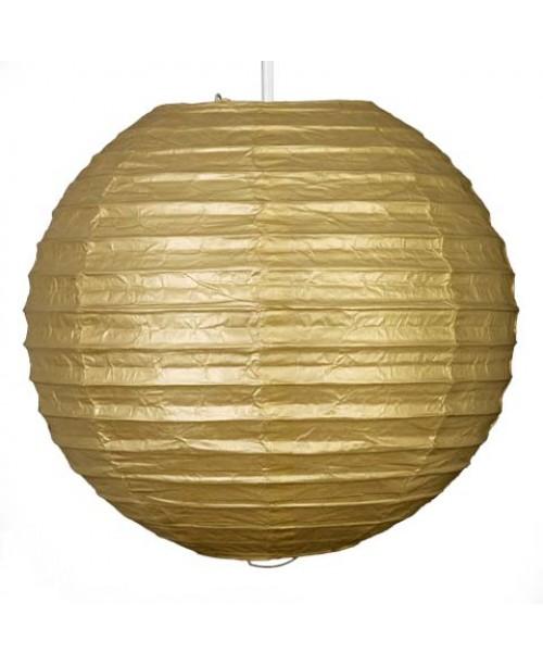 """12"""" Paper Lantern Gold Regular Wire"""