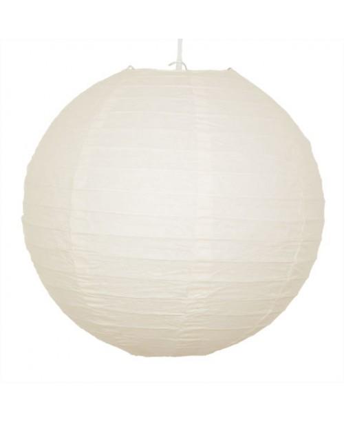 """16"""" Paper Lantern Ivory Regular Wire"""
