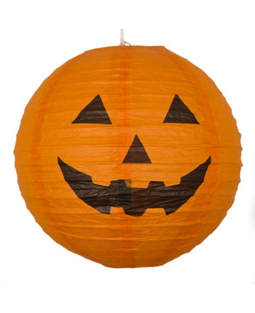 "16"" Paper Lantern Halloween Pumpkin"