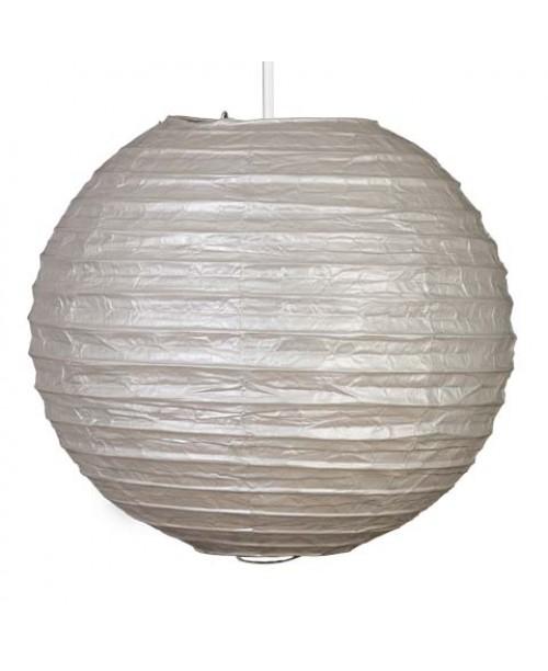 """12"""" Paper Lantern Silver Regular Wire"""