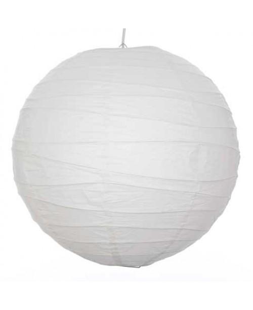"""36"""" Paper Lantern White Irregular Bamboo Ribbed Lantern"""