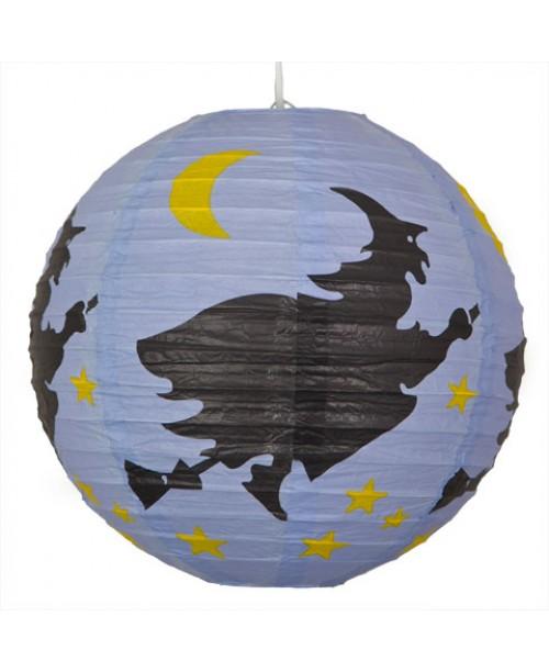 "12"" Paper Lantern Halloween Witches"