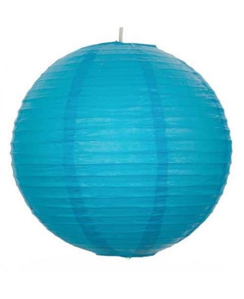 "16"" Paper Lantern Turquoise Regular Wire"
