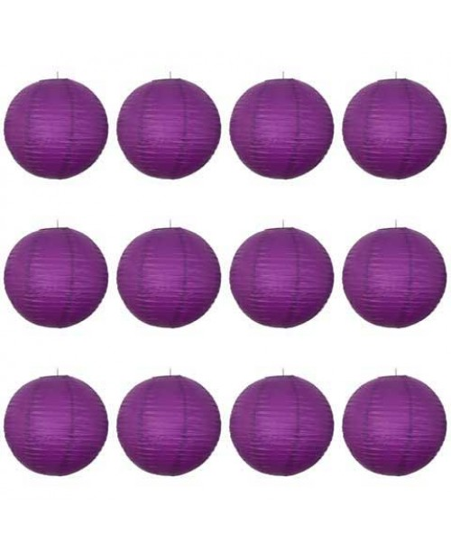 "16"" Paper Lantern Purple Regular Wire Value Pack"