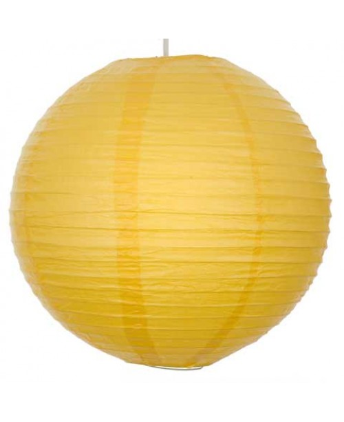 "16"" Paper Lantern Yellow Regular Wire"